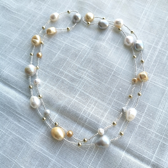 NWT Freshwater Pearl necklace long short